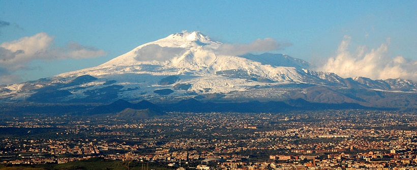 Mt Etna and Catania