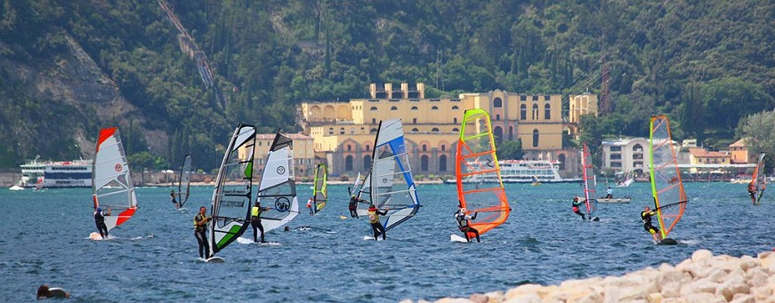 Windsurfing on Lake Garda