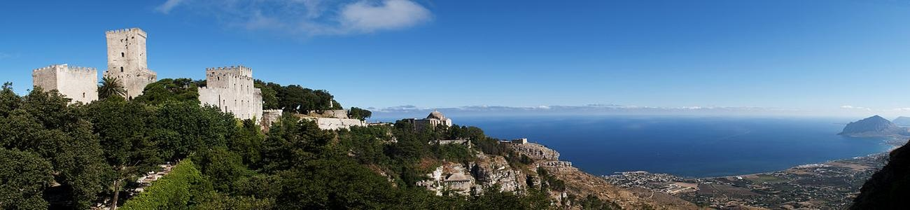 Sicilian Castle with sea view Sicily Italy