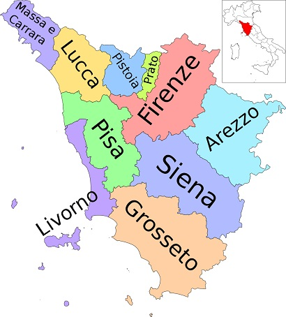Provinces of Tuscany