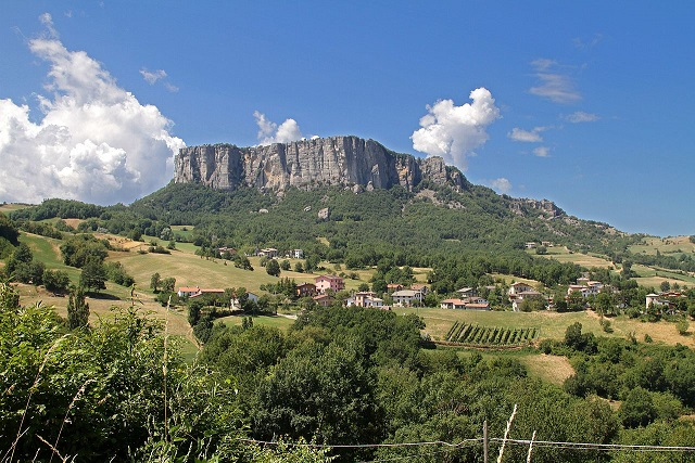 Pietra di Bismantova in the Appennine mountains of  Emilia Romagna. A wonderful region to buy an Italian home.